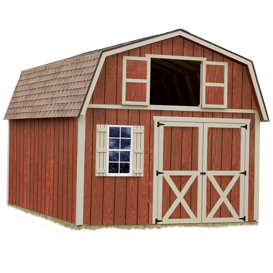 Best Barns (Common: 12-ft x 20-ft; Interior Dimensions: 11.42-ft x 19.42-ft) Millcreek without floor Gambrel Engineered Storage Shed (Installation Not Included)