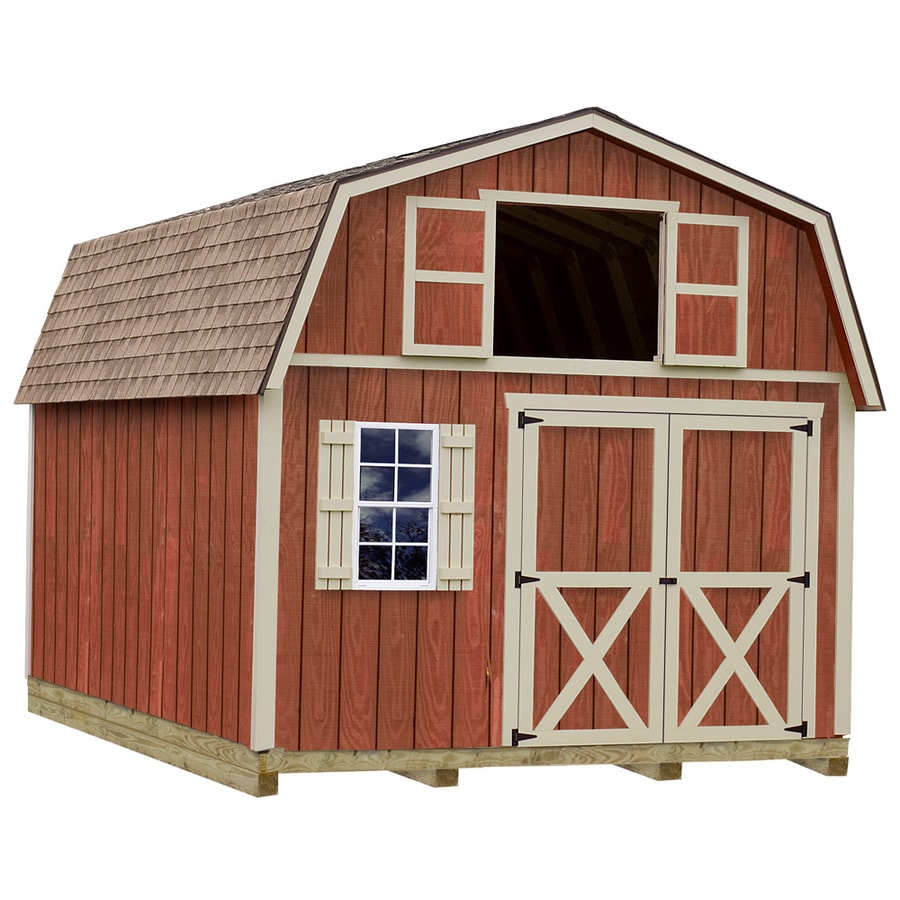 Best Barns Millcreek with Floor Gambrel Engineered Wood Storage Shed (Common: 12-ft x 20-ft; Interior Dimensions: 11.42-ft x 19.42-ft)