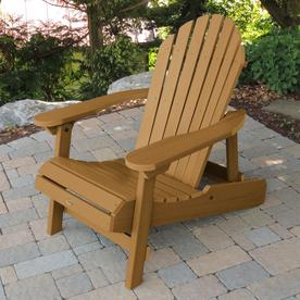Gentil Highwood Hamilton Plastic Stationary Adirondack Chair With Slat Seat