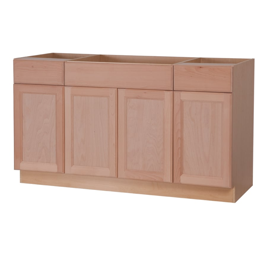 Shop Style Selections 60-in W x 34.5-in H x 24.6-in D Unfinished ...