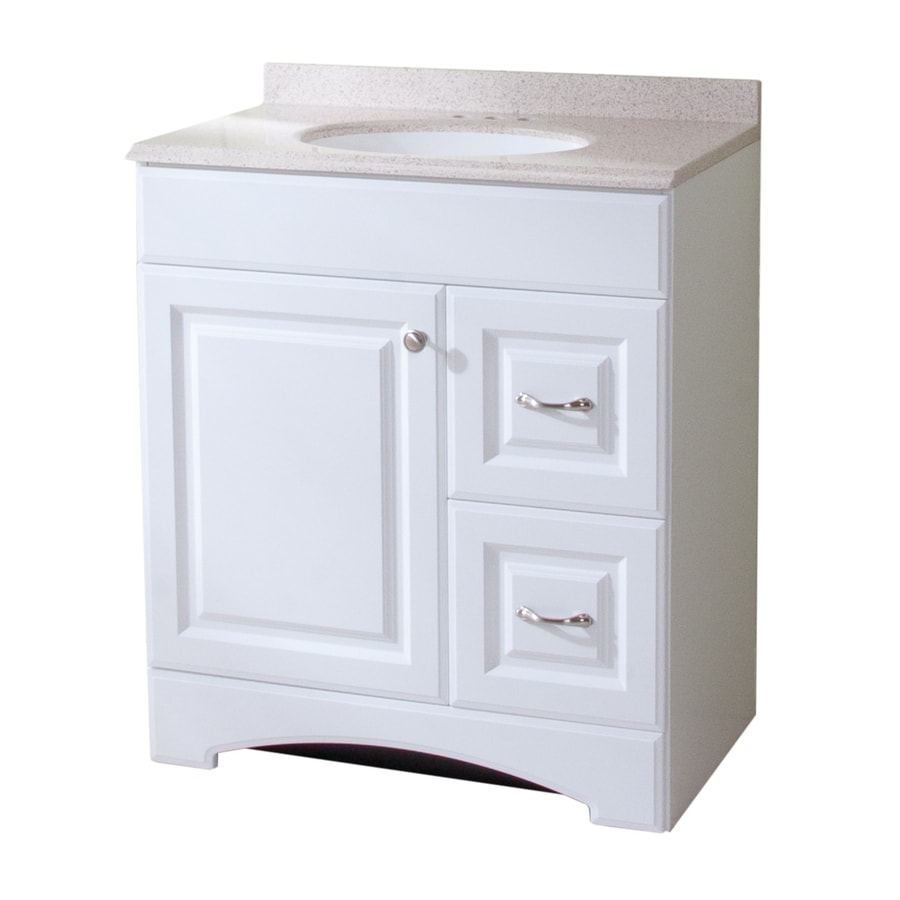lowes white bathroom vanity shop style selections almeta 30 in x 18 in white integral 19361