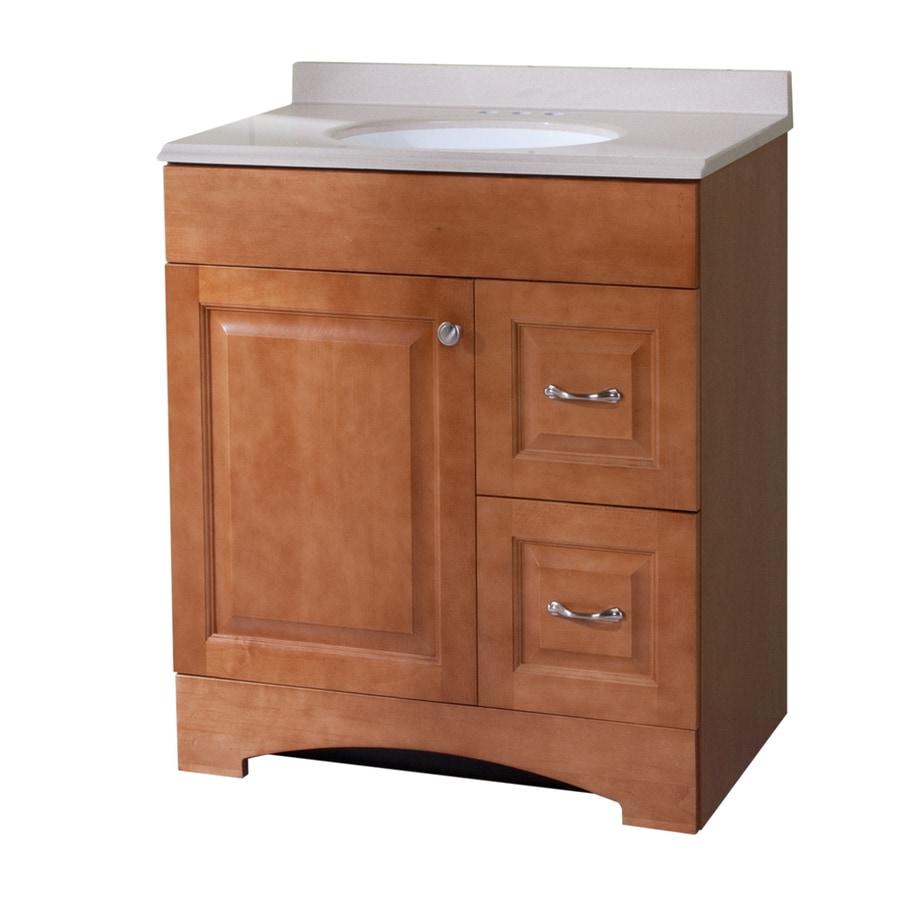 Shop Style Selections Almeta In X In Honey Integral - 30 x 18 bathroom vanity for bathroom decor ideas