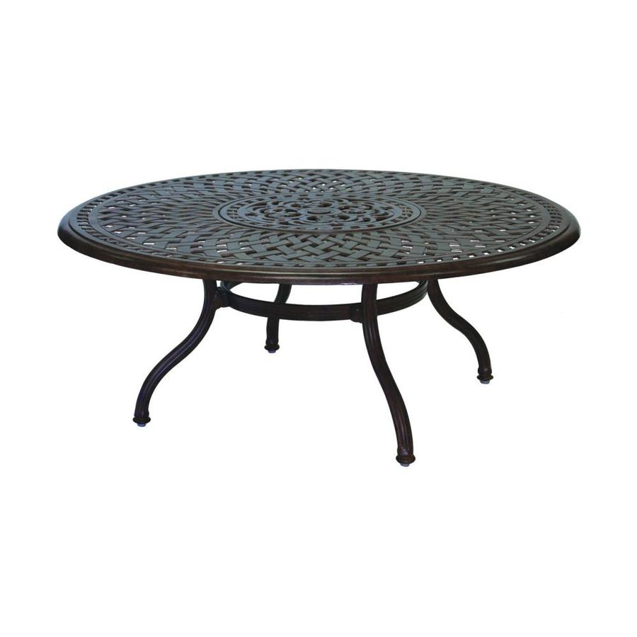 Wrought Aluminum Coffee Table: Darlee Series 60 52-in W X 52-in L Round Aluminum Coffee
