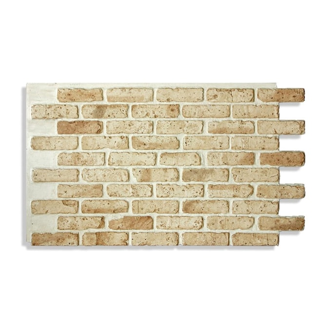 Antico Elements Faux Brick Panels Light Tan 47 5 In X 27 25 In Panel Brick Veneer In The Brick Veneer Department At Lowes Com