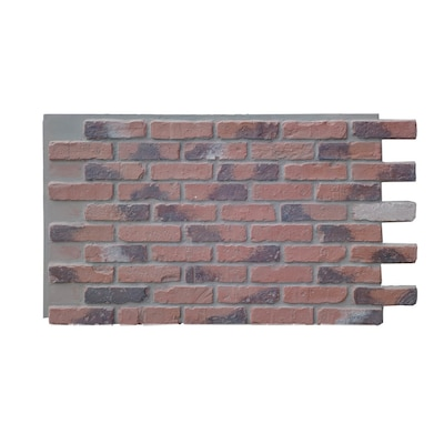 Antico Elements Faux Brick Panels Chicago Red Light Grout 47 5 In X 27 25 In Panel Brick Veneer In The Brick Veneer Department At Lowes Com