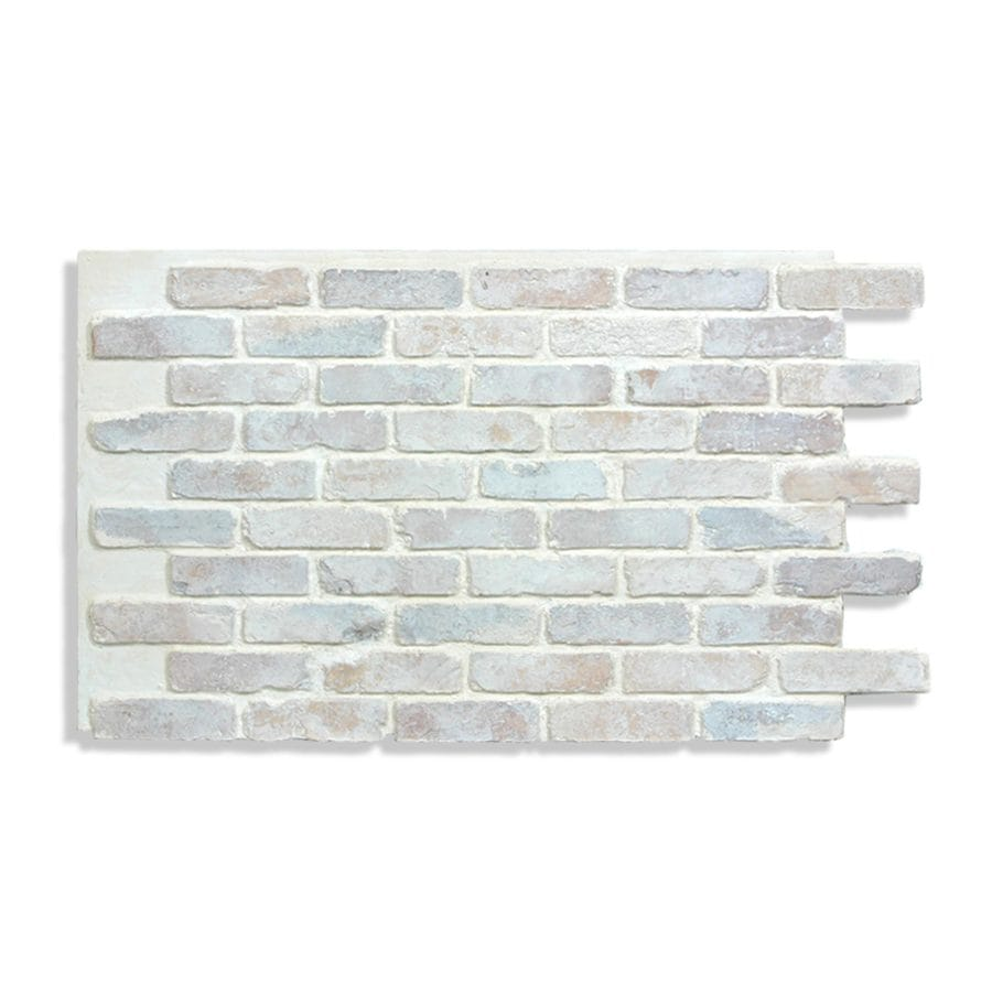 Antico Elements Faux Brick Panels Cotton 47 5 In X 27 25 In Panel Brick Veneer In The Brick Veneer Department At Lowes Com