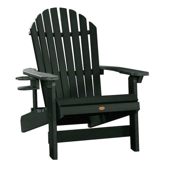 Highwood The Adirondack Collection Charleston Green Plastic Frame Stationary Adirondack Chair S With Slat Seat In The Patio Chairs Department At Lowes Com