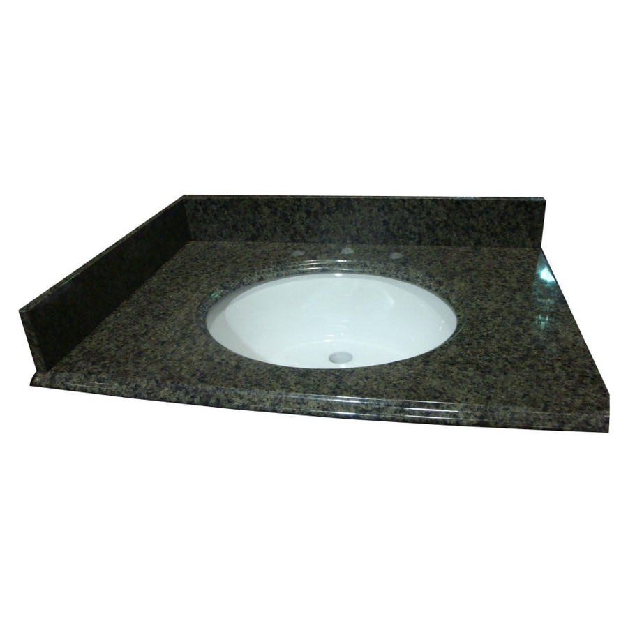 Bathroom Vanity 31 X 22 shop allen + roth spring green granite undermount bathroom vanity
