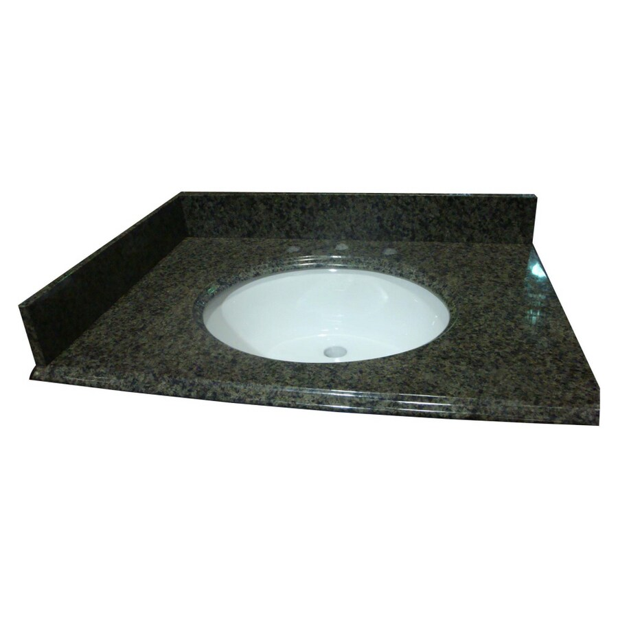 allen + roth Spring Green Granite Undermount Bathroom Vanity Top (Common: 43-in x 22-in; Actual: 43-in x 22-in)