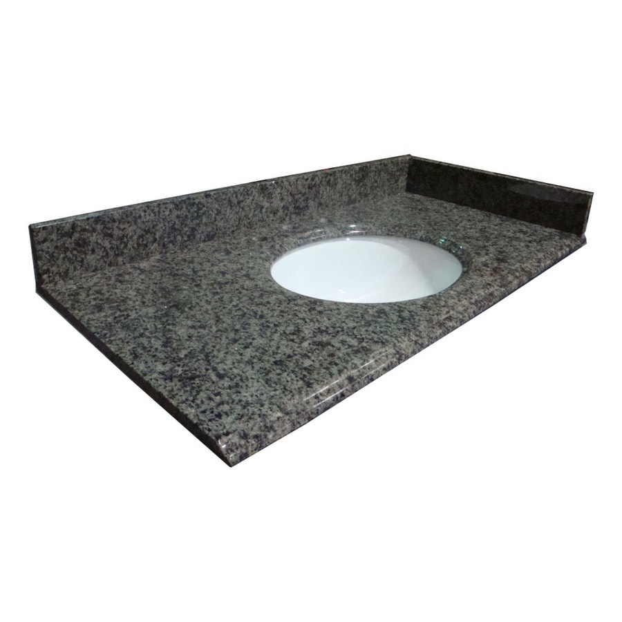 allen + roth Spring Green Granite Undermount Bathroom Vanity Top (Common: 49-in x 22-in; Actual: 49-in x 22-in)