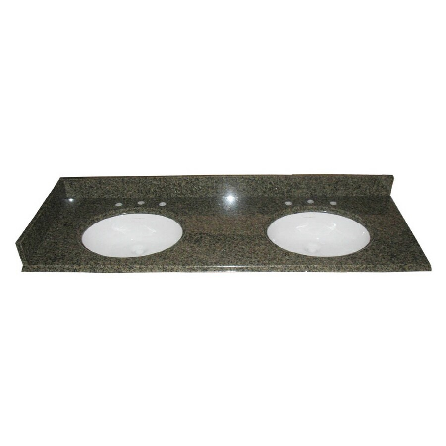 allen + roth Spring Green Granite Undermount Bathroom Vanity Top (Common: 61-in x 22-in; Actual: 61-in x 22-in)