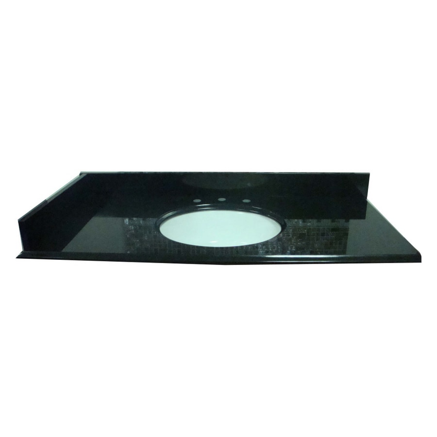 allen + roth Black Absolute Granite Undermount Bathroom Vanity Top (Common: 61-in x 22-in; Actual: 61-in x 22-in)