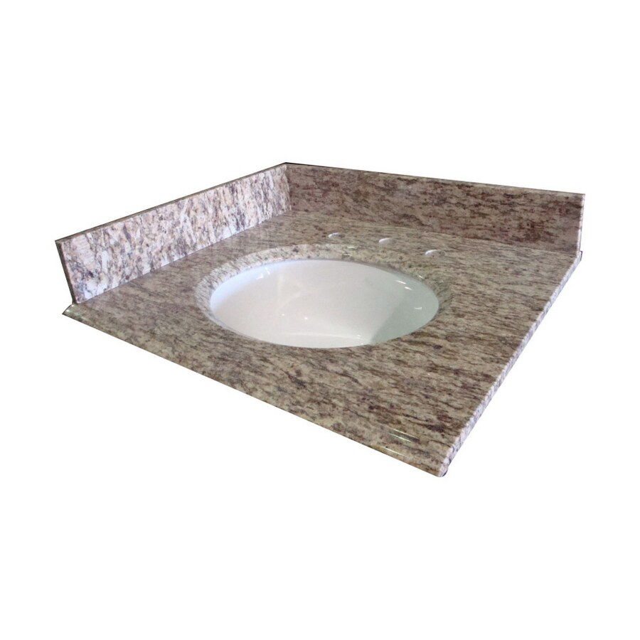 allen + roth Santa Cecilia Granite Undermount Bathroom Vanity Top (Common: 37-in x 22-in; Actual: 37-in x 22-in)