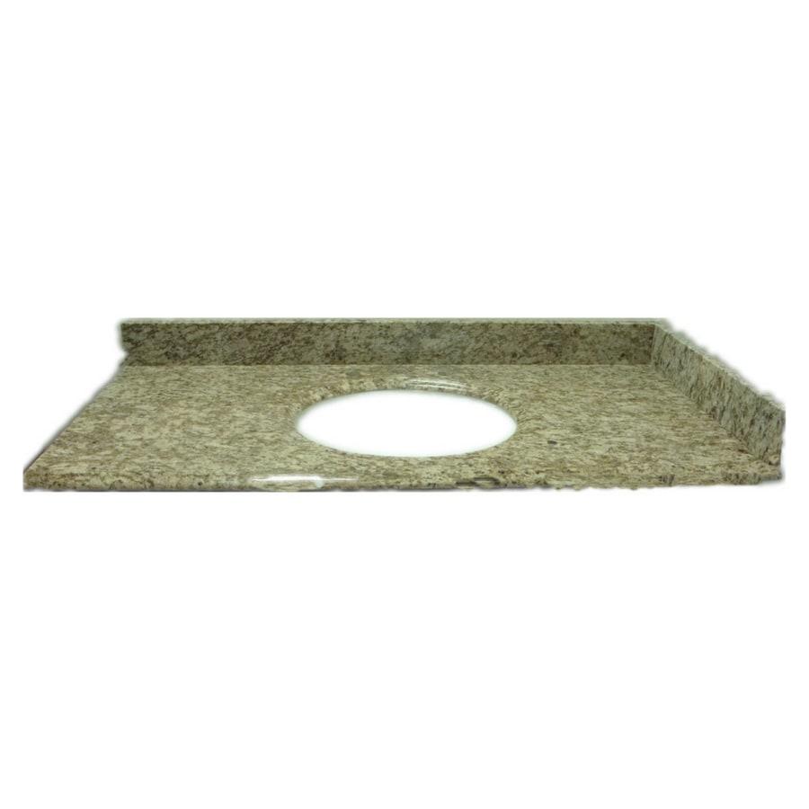 allen + roth Santa Cecilia Granite Undermount Bathroom Vanity Top (Common: 61-in x 22-in; Actual: 61-in x 22-in)