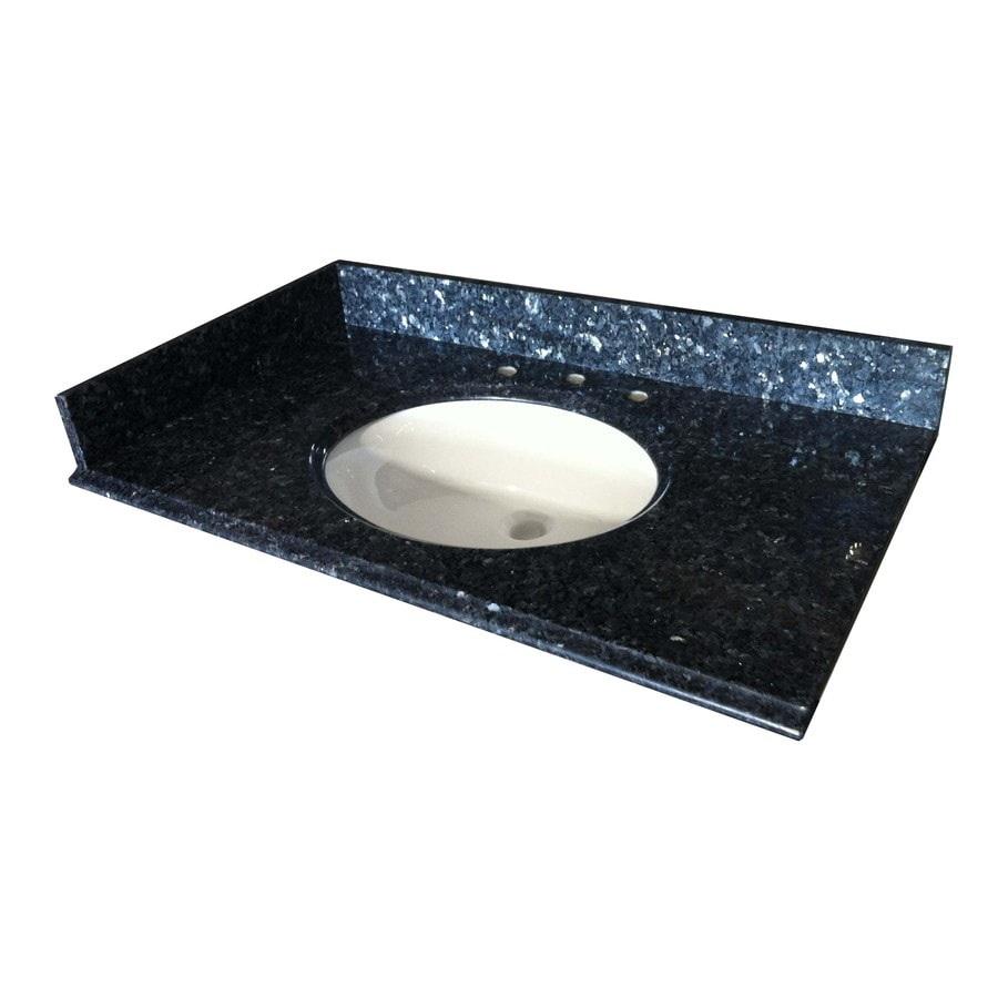 Bathroom Vanity 37 X 22 shop allen + roth blue pearl granite undermount bathroom vanity