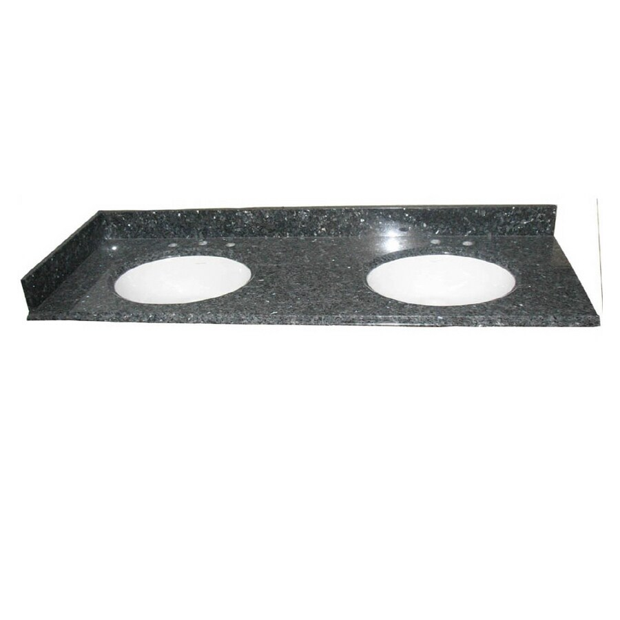 allen + roth Blue Pearl Granite Undermount Bathroom Vanity Top (Common: 61-in x 22-in; Actual: 61-in x 22-in)