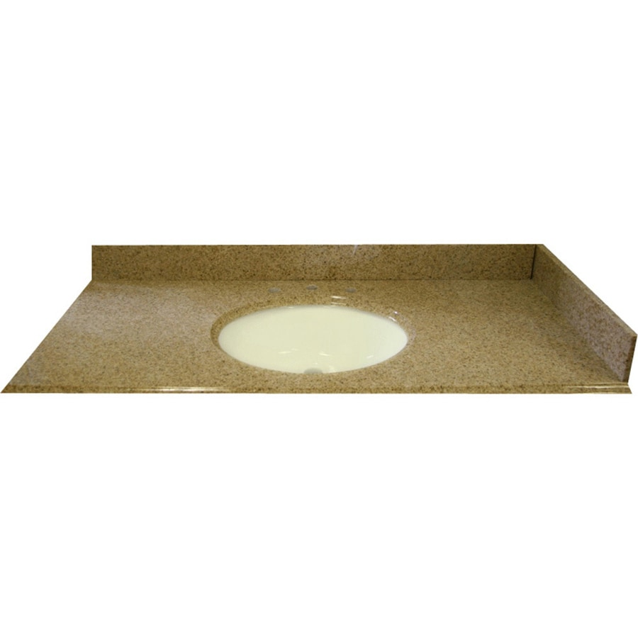 allen + roth Desert Gold Granite Undermount Bathroom Vanity Top (Common: 61-in x 22-in; Actual: 61-in x 22-in)