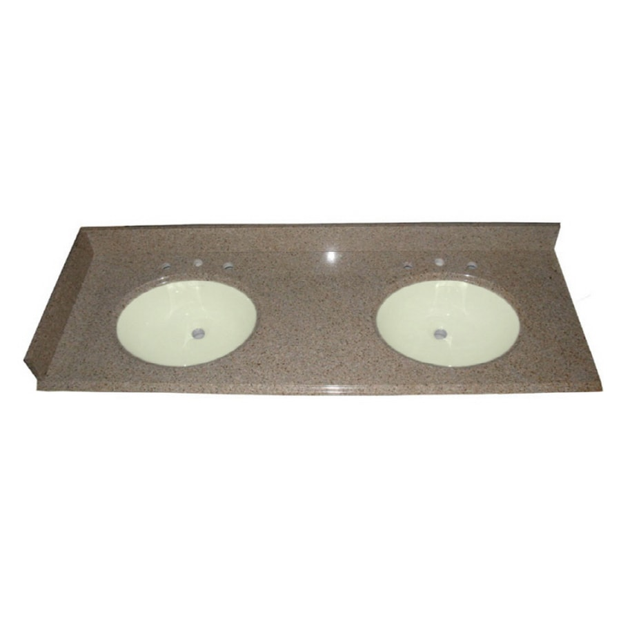 Shop Allen Roth Desert Gold Granite Undermount Bathroom