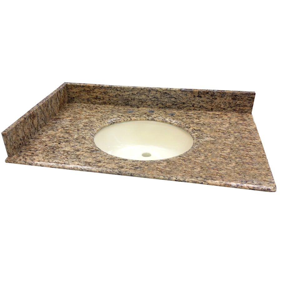 allen + roth Santa Cecilia Granite Undermount Bathroom Vanity Top (Common: 49-in x 22-in; Actual: 49-in x 22-in)
