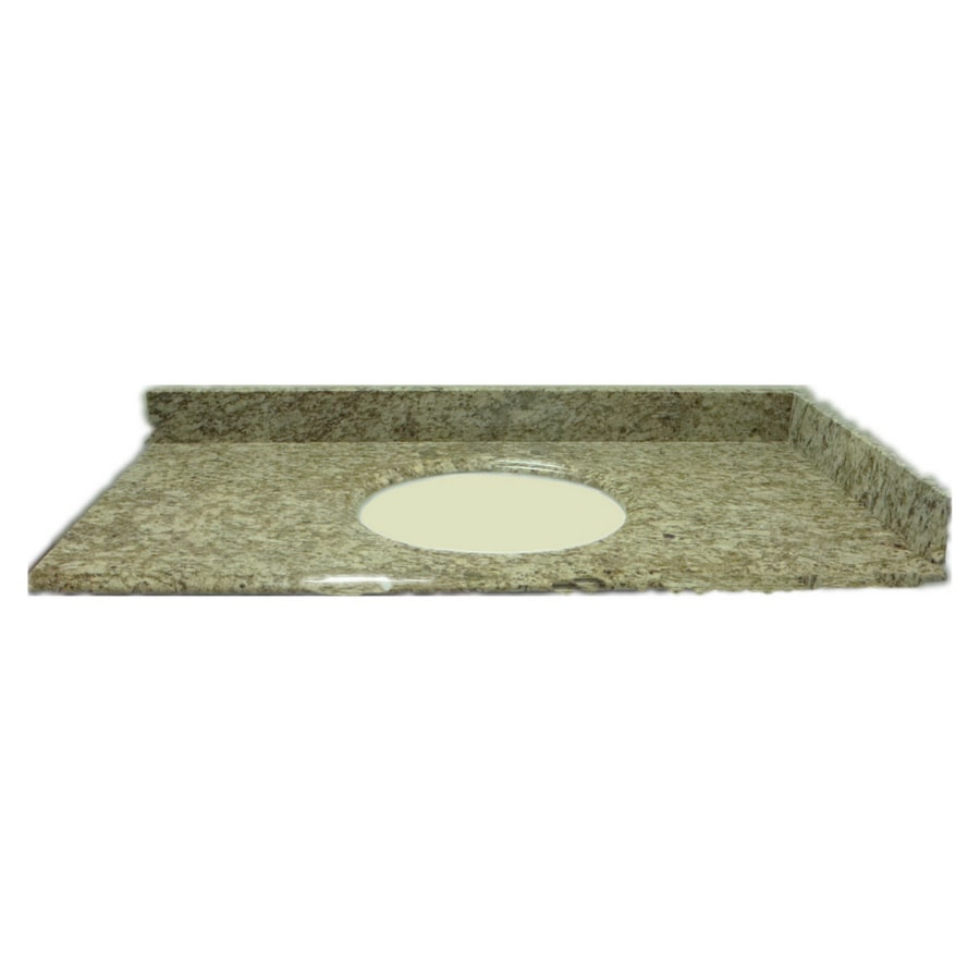 allen + roth Santa Cecilia Granite Undermount Bathroom Vanity Top (Common: 61-in x 22-in; Actual: 61-in x 22-in)