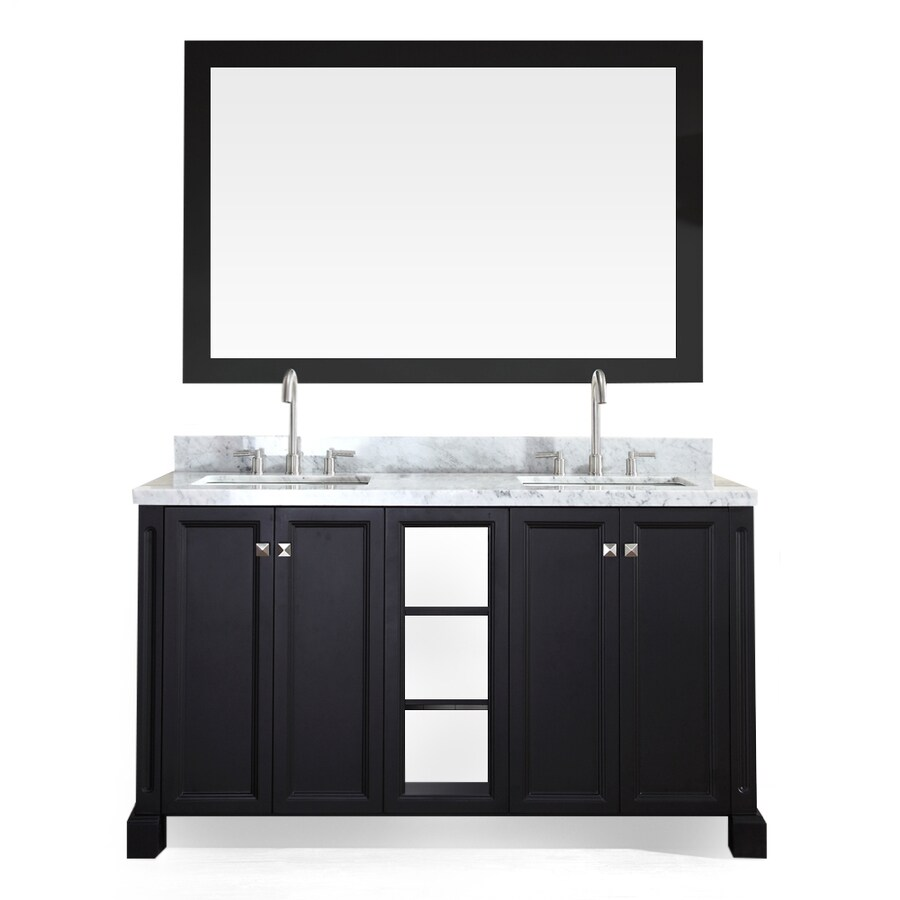 Shop Ariel Westwood Black Double Sink Vanity With White