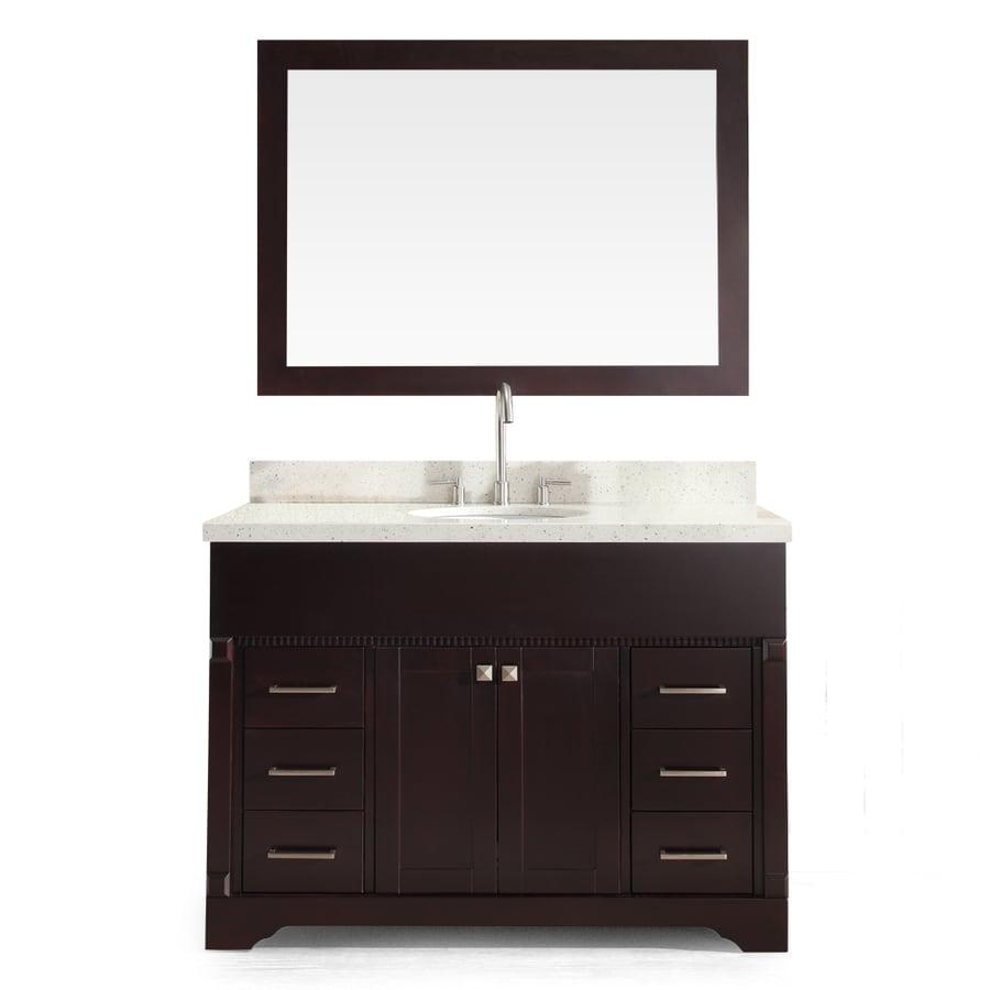 ARIEL Stafford Espresso Undermount Single Sink Bathroom Vanity with Quartz Top (Common: 49-in x 22-in; Actual: 49-in x 22-in)