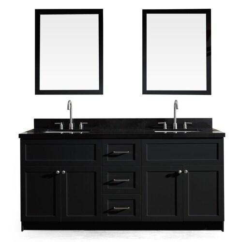 Black Double Sink Bathroom Vanity