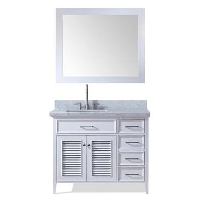ARIEL Kensington 43-in White Single Sink Bathroom Vanity