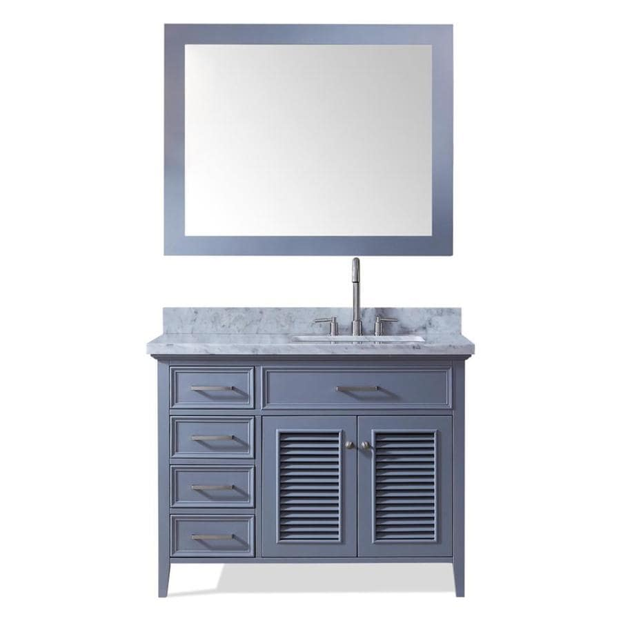 Shop Ariel Kensington Gray Undermount Single Sink Bathroom Vanity With Natural Marble Top
