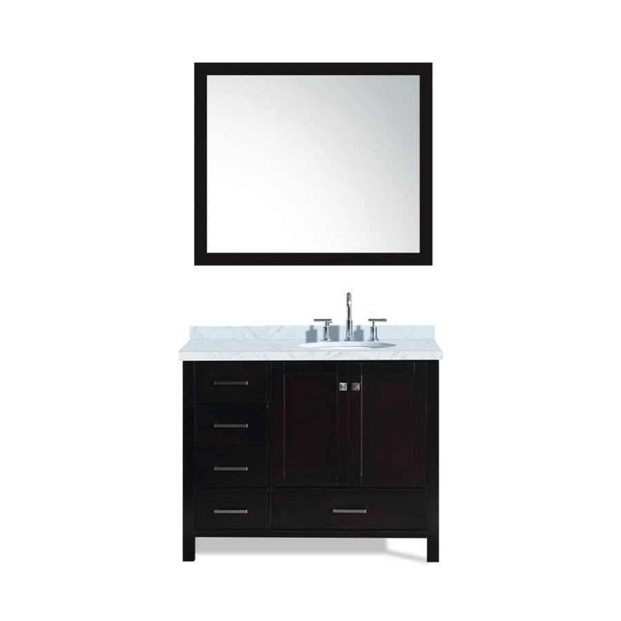 ARIEL Cambridge Espresso Undermount Single Sink Bathroom Vanity with Natural Marble Top (Common: 43-in x 22-in; Actual: 43-in x 22-in)