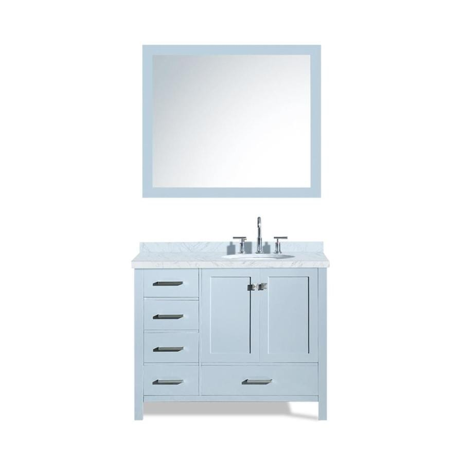 ARIEL Cambridge Gray Undermount Single Sink Bathroom Vanity with Natural Marble Top (Common: 43-in x 22-in; Actual: 43-in x 22-in)