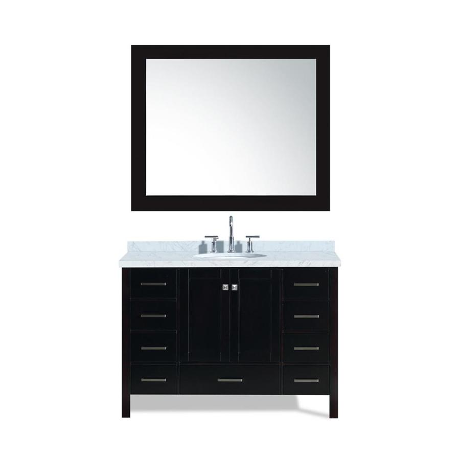 ARIEL Cambridge Espresso Undermount Single Sink Bathroom Vanity with Natural Marble Top (Common: 49-in x 22-in; Actual: 49-in x 22-in)