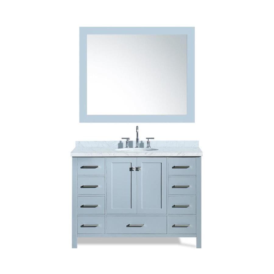 ARIEL Cambridge Gray Undermount Single Sink Bathroom Vanity with Natural Marble Top (Common: 49-in x 22-in; Actual: 49-in x 22-in)