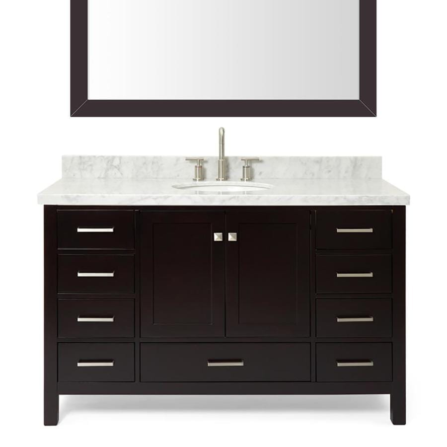Shop Ariel Cambridge Espresso Undermount Single Sink Bathroom Vanity With Natural Marble Top