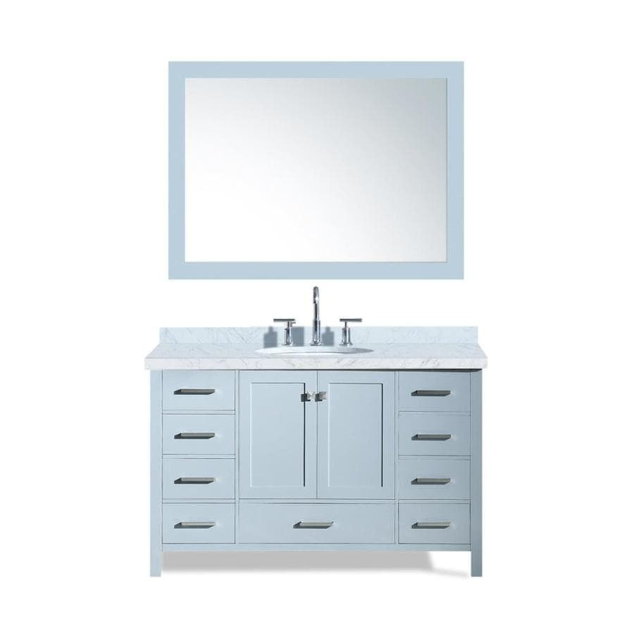 Grey And White Marble Bathroom: Shop ARIEL Cambridge Gray Undermount Single Sink Bathroom