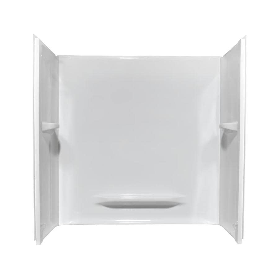 Lowes white acrylic bathtub wall surround white only for Best acrylic tub