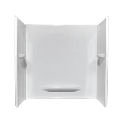 White Acrylic Bathtub Wall Surround Common 30 In X 60 Actual 59