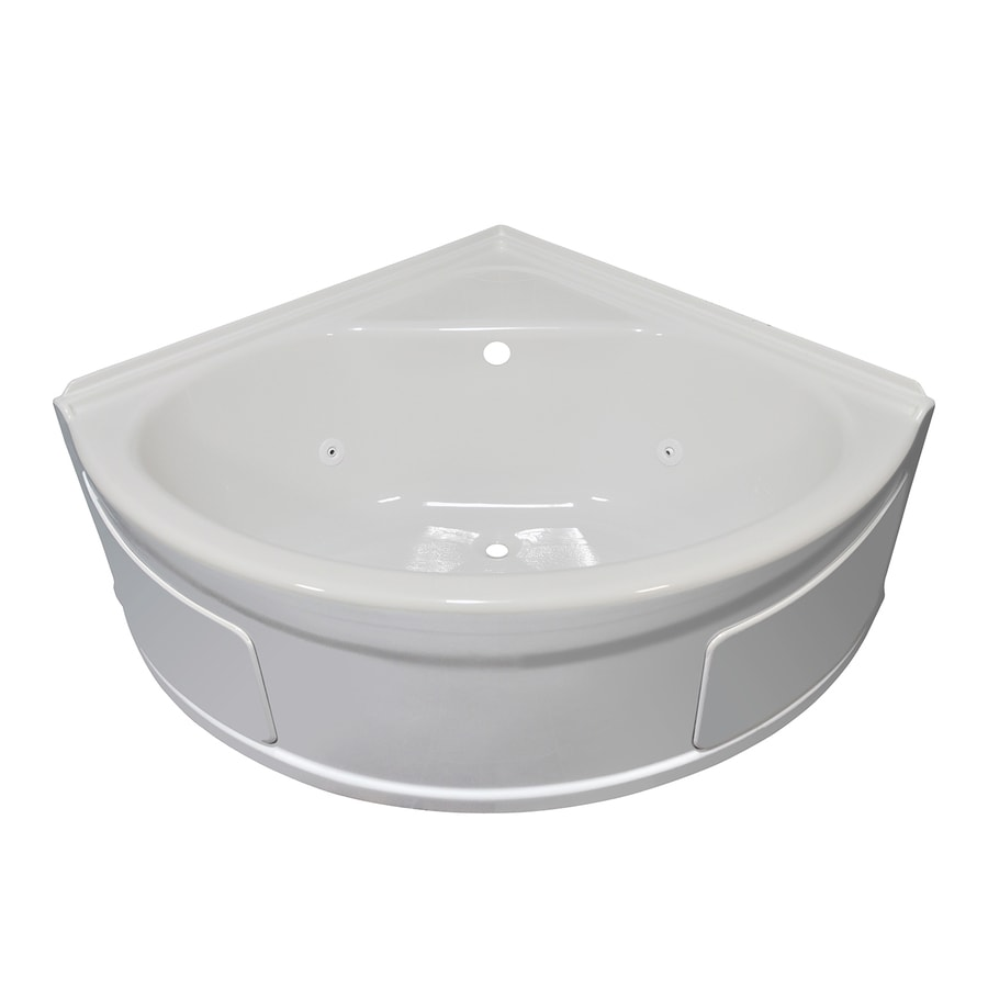 Shop Style Selections White Acrylic Corner Whirlpool Tub (Common: 48 ...