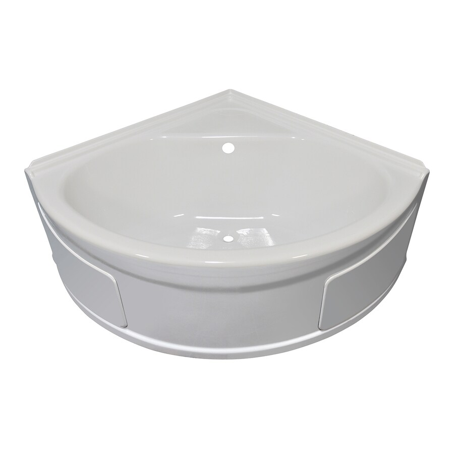 Shop Style Selections Acrylic Corner Skirted Bathtub with Back ...