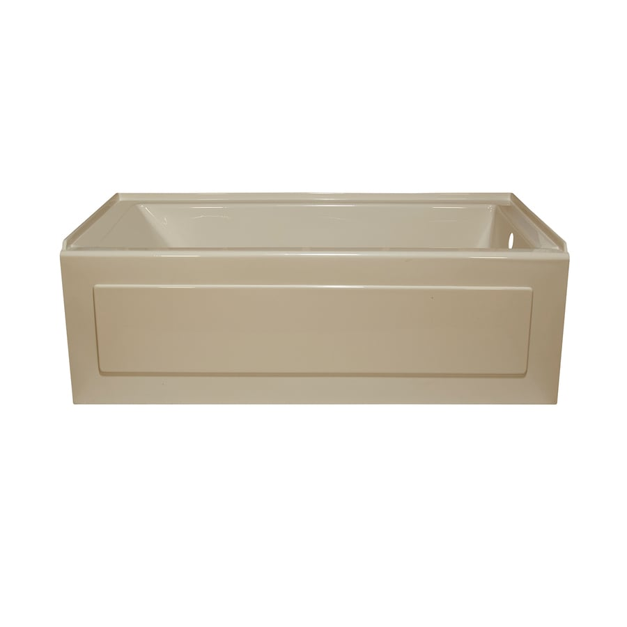 Style Selections Almond Acrylic Rectangular Whirlpool Tub (Common: 32-in x 60-in; Actual: 19-in x 32-in x 59.875-in)