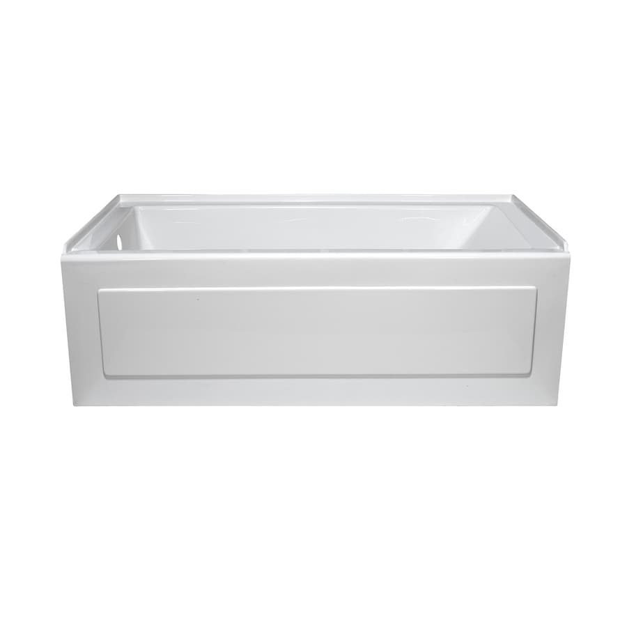 Style Selections White Acrylic Rectangular Alcove Bathtub with Left-Hand Drain (Common: 32-in x 60-in; Actual: 19-in x 32-in x 59.875-in)