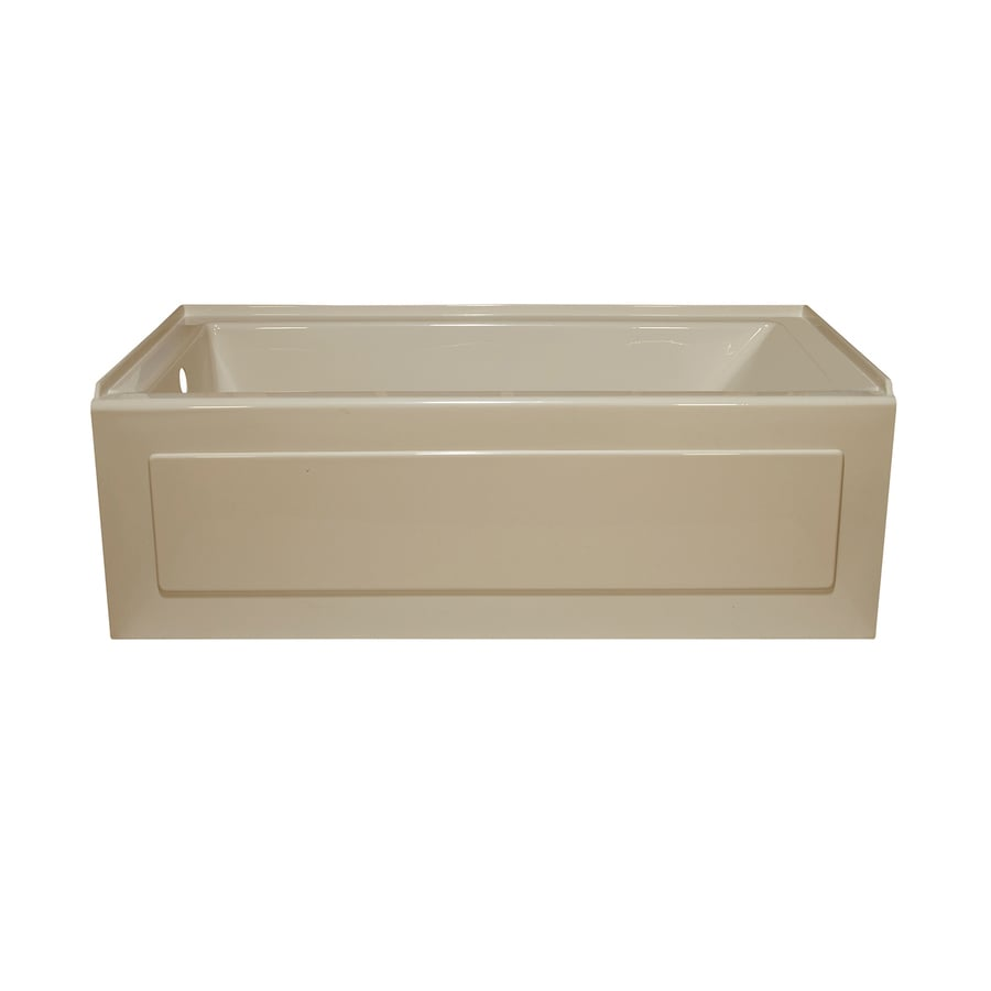 Style Selections Almond Acrylic Rectangular Alcove Bathtub with Left-Hand Drain (Common: 32-in x 60-in; Actual: 19-in x 32-in x 59.875-in)