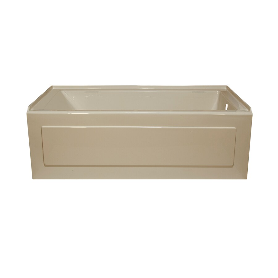 Style Selections Almond Acrylic Rectangular Alcove Bathtub with Right-Hand Drain (Common: 32-in x 60-in; Actual: 19-in x 32-in x 59.875-in)
