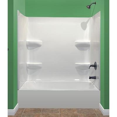 Style Selections White Acrylic Bathtub Wall Surround Common