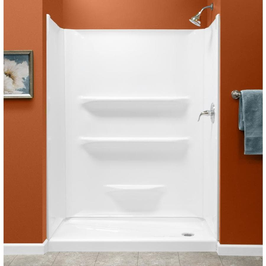 Style Selections White Shower Wall Surround One Piece Common 54 In X