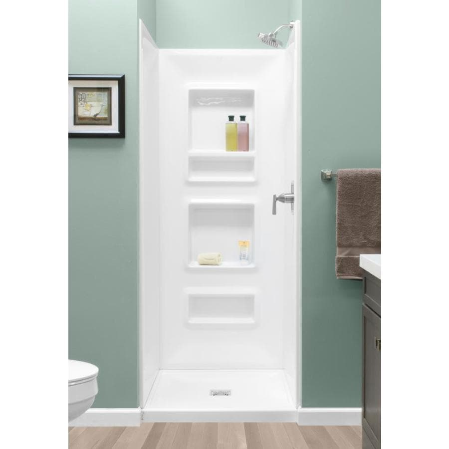 Style Selections White Shower Wall Surround Side And Back Panels (Common:  32 In