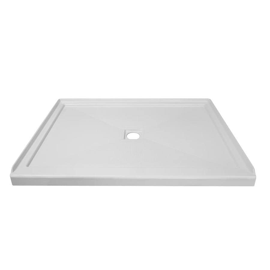 Style Selections White Acrylic Shower Base (Common: 34-in W x 48-in L; Actual: 33.875-in W x 47.875-in L)