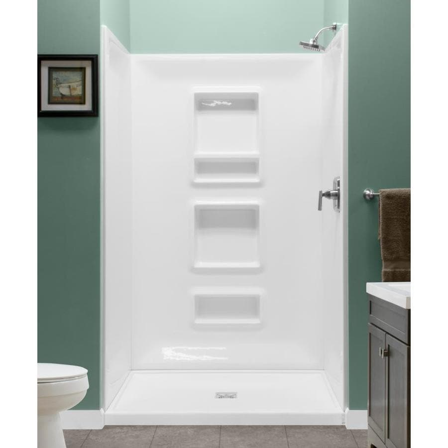 Shop Style Selections White Shower Wall Surround Multi-piece (Common ...