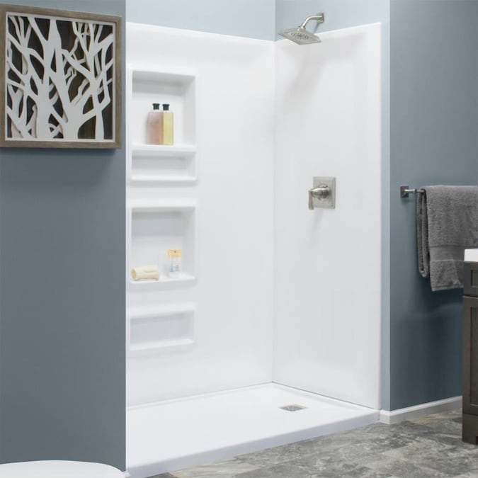 style selections white panel kit shower wall surround 32