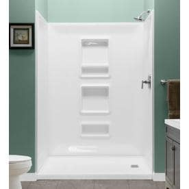 Shop Shower Walls Surrounds At Lowescom - Lowes bathroom shower surrounds